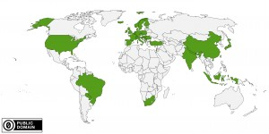 Map of Conference Attendees Countries