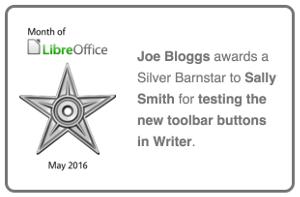 Month of LibreOffice barnstar