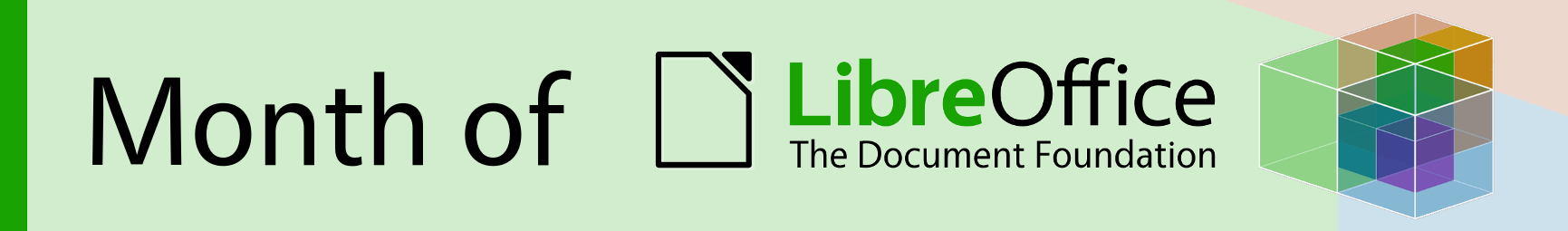 It's the final week of the Month of LibreOffice, November 2018
