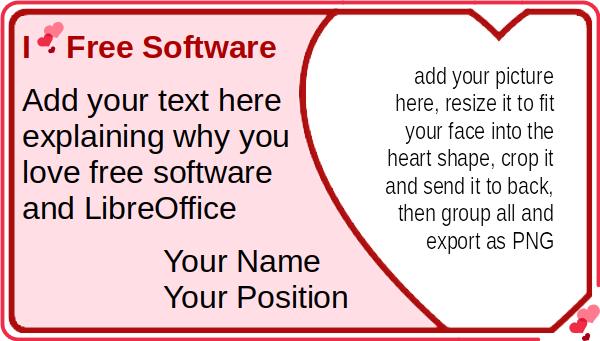 Show your love for free software using LibreOffice Draw