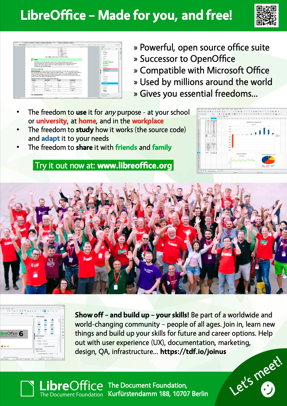 LibreOffice flyers for schools and universities – Help us to hand them out!