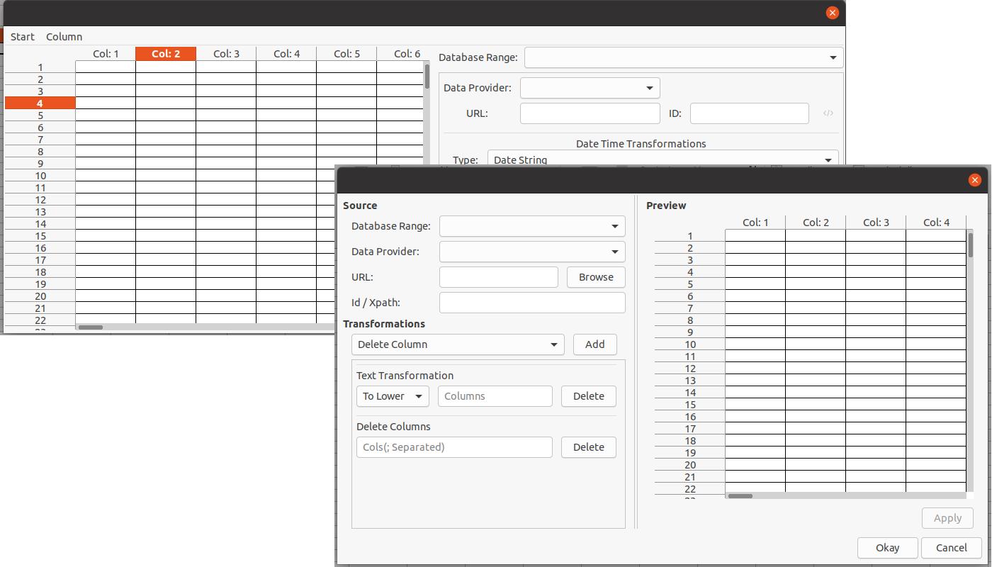 Screenshot of Data Provider