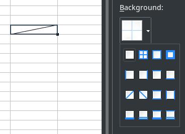Screenshot of diagonal borders