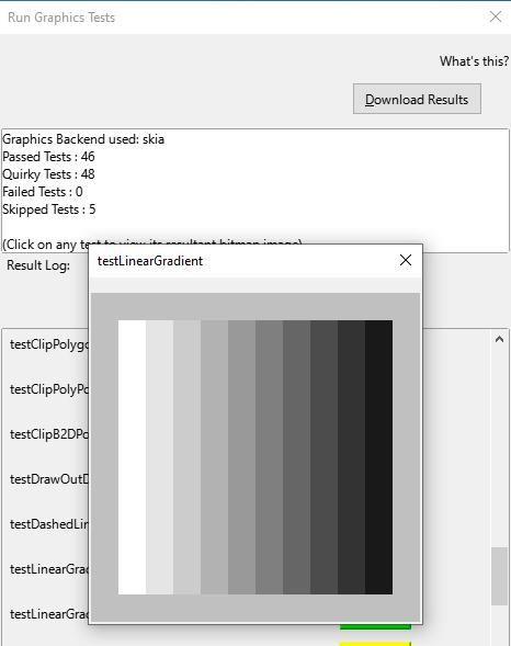 Screenshot of VCL tests